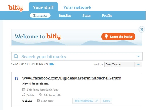 Bitly Tutorial - Your stuff