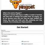 Ping your Blog Free - Pingoat
