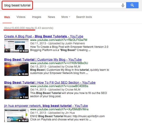 ENV2 Google Ranking Case Study
