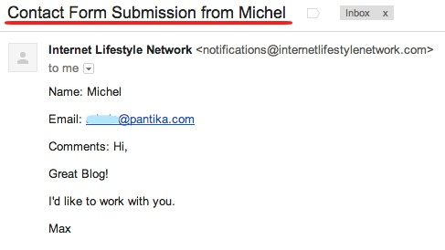 Internet Lifestyle Network blog ~ message