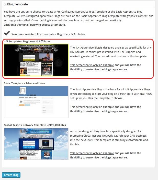 Internet Lifestyle Network blog ~  step 3