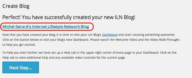 Internet Lifestyle Network blog ~ blog created