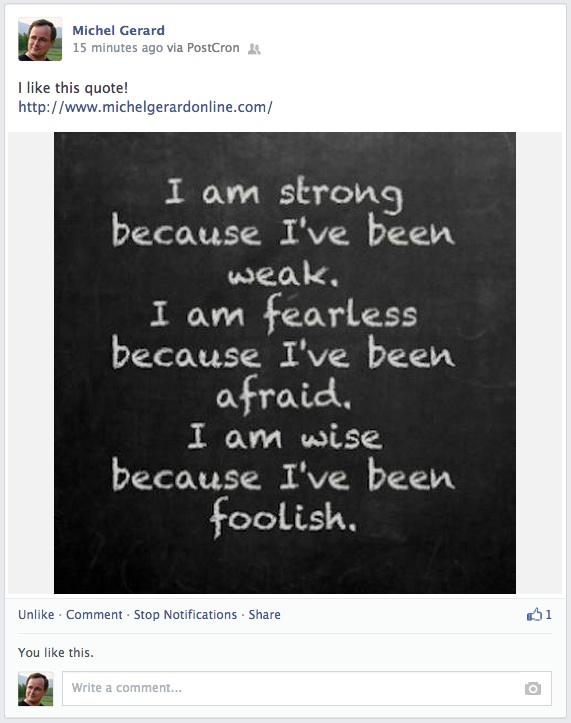 PostCron ~ Photo post on FaceBook