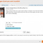 PostCron post ~ Share link options