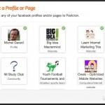 PostCron ~ select social accounts