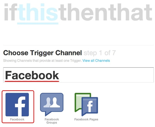 IFTTT - If This Then that - FaceBook