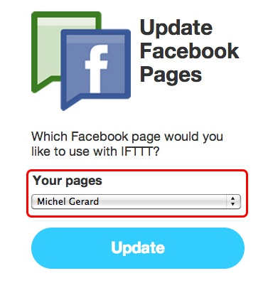IFTTT - FaceBook activation