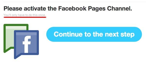 IFTTT - FaceBook channel activation