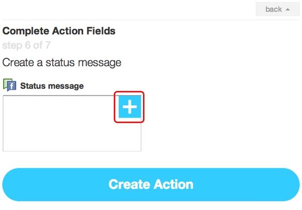 IFTTT - Complete Action Fields