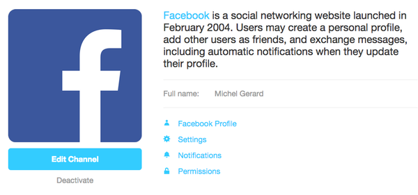 ifttt fb activated
