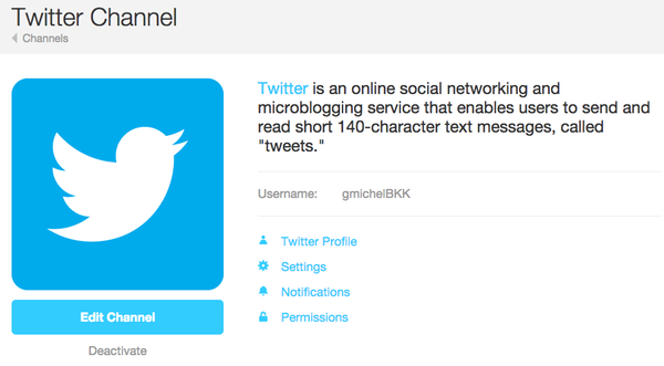 ifttt - twitter activated