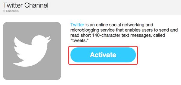 ifttt - twitter activate